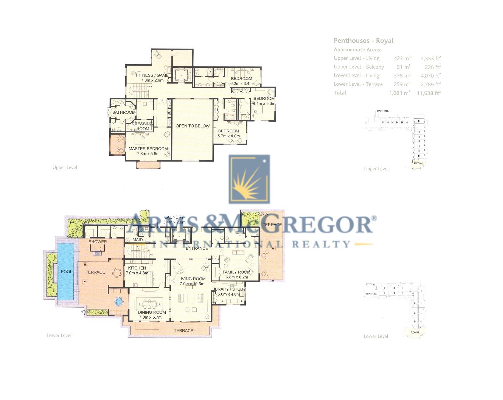 4 br penthouse royal